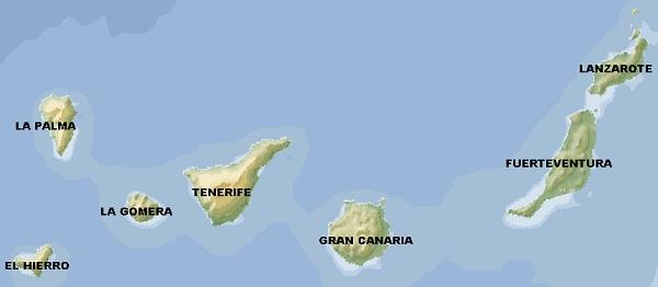 canarie mappa